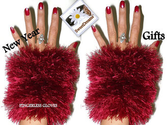 accessories tumblr fashion instagram twitter fur gloves women etsy etsy sale fingerless red gloves red fingerless gifs womens accesoires fur fingerless fur gloves sexy