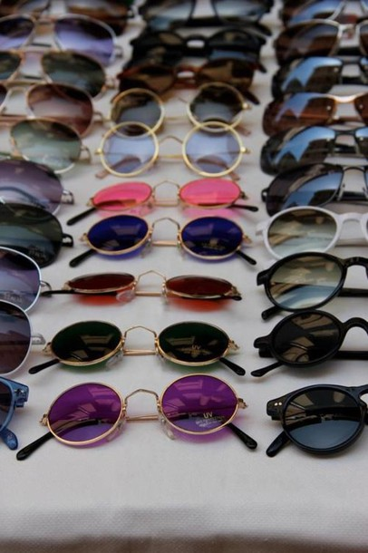 sunglasses colorful round glasses hipster hippie lunette de soleil rayban sexy neon color pink sunglasses vintage black sunglasses round sunglasses round sunglasses summer outfits vintage sunglasses
