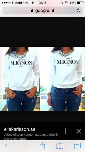 sweater h&m tres mignon paris