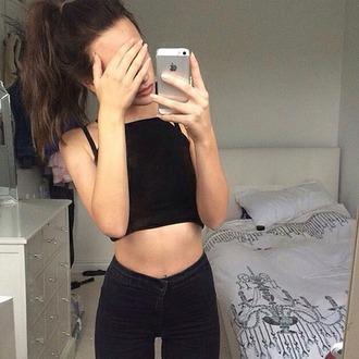 jeans grunge pale black jeans high waisted jeans