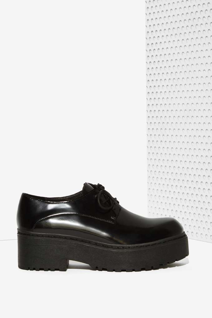 Campbell Cedric Leather Platform Shoe