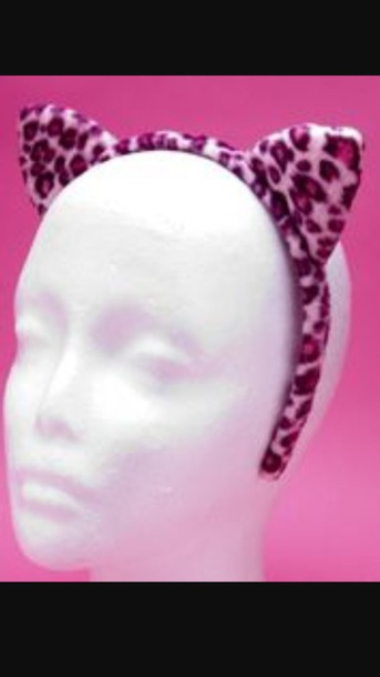 1 & hair accessory pink leopard print leopard print rave festival ...