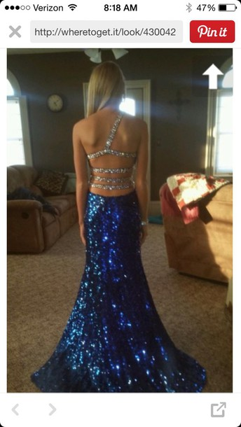 Prom Dress Sequins One Shoulder Dress Aqua Baby Blue Blue Dress