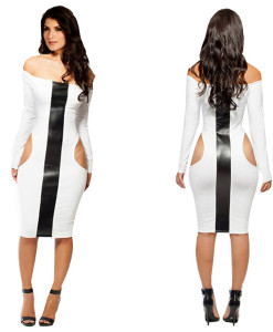 2014 new fashion M XXL plus size women sexy one shouldre sleeveless elegant party cascading ruffle evening sexy party mini dress | Amazing Shoes UK