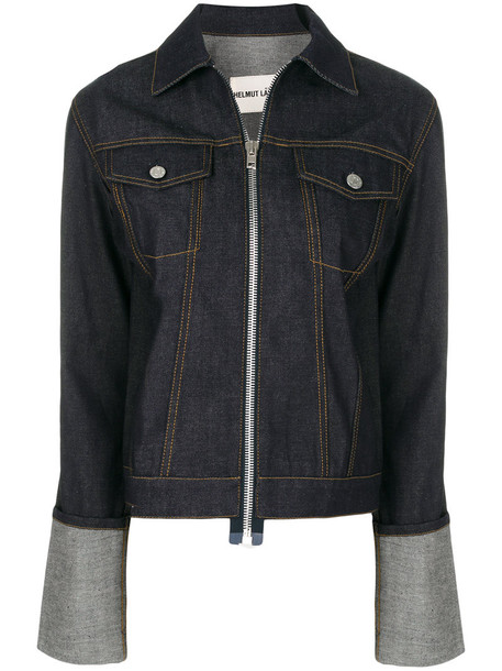 Helmut Lang jacket denim jacket denim women cotton blue