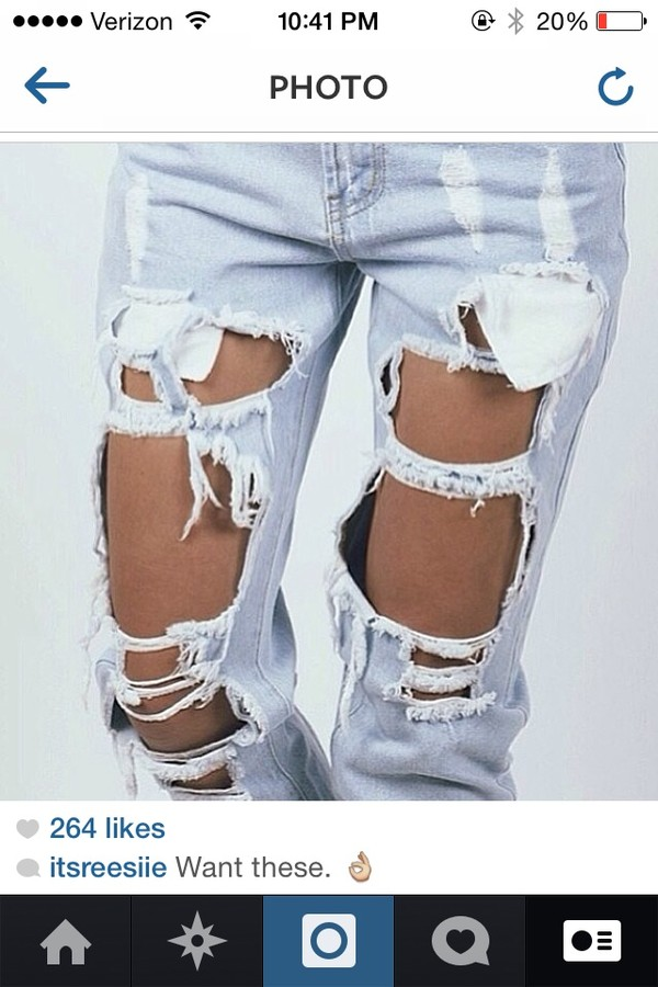 jeans ripped jeans denim