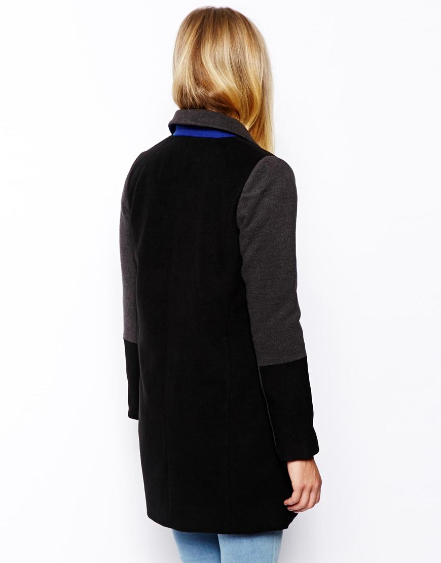 ASOS PETITE Exclusive Coat With Contrast Collar at asos.com