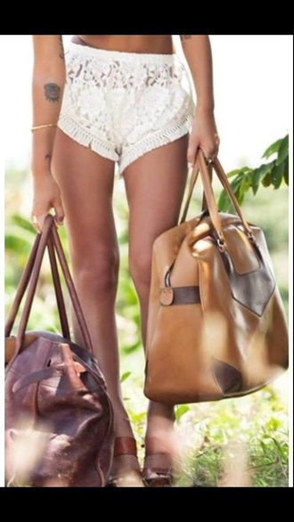 beige bag brown bag leather bag bag beige brown leather