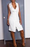 Lennie double breasted white blazer dress (size
