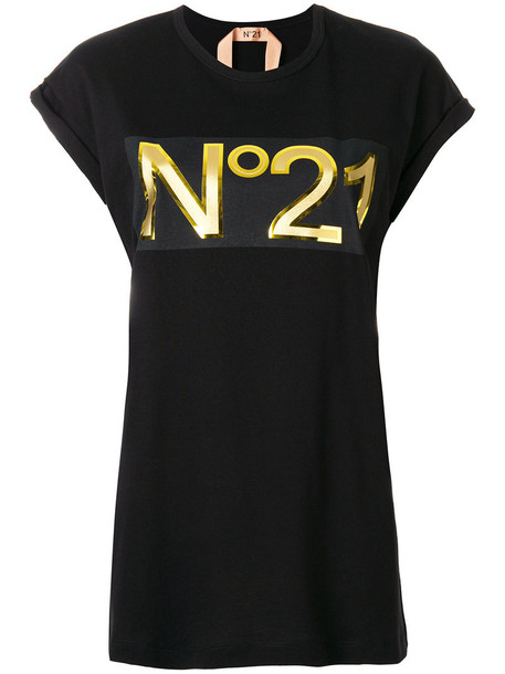 No21 t-shirt shirt t-shirt women cotton black top