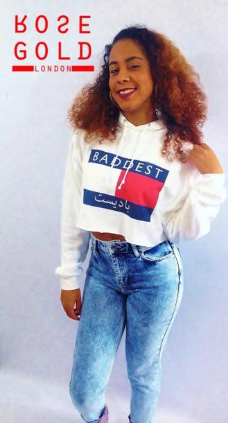sweater hoodie cropped sweater 90s style streetwear