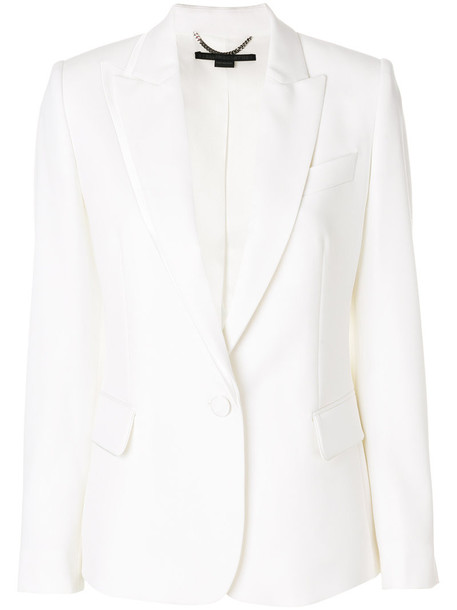 Stella McCartney blazer women fit white silk wool jacket