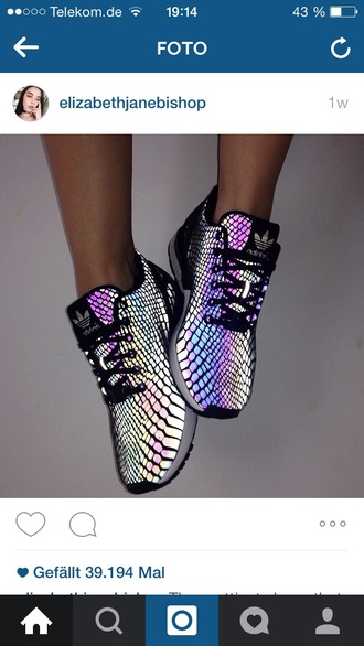 shoes sneakers adidas rainbow metallic