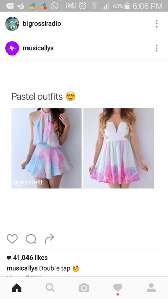 dress multicolor pastel mini dress summer dress