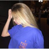 shirt,blue,orange,t-shirt,tumblr,blonde hair,navy blue tshirt,tumblr tshirt