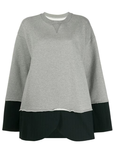 Mm6 Maison Margiela Hybrid Sweatshirt Pinstripe Blazer - Farfetch