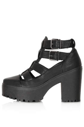 ARCADE Cut Out Chunky Boots - Boots - Shoes - Topshop