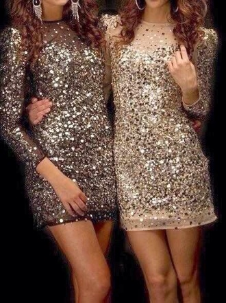dress fashion friends sequin dress short dress bodycon dress beautiful dresses
