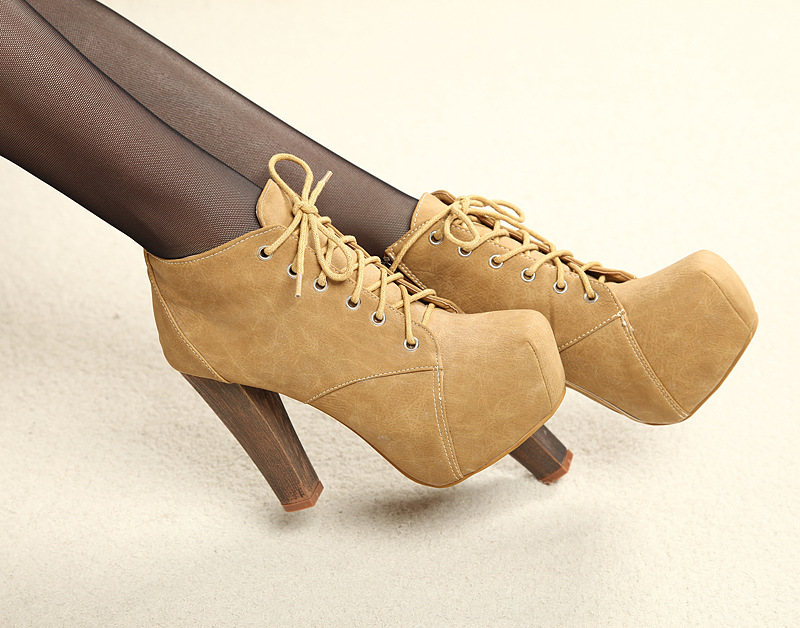 Free Shipping New 2014 Fashion Women Ankle Boots High Heel Platform Pumps Party Nude Shoes Lace Up-in Boots from Shoes on Aliexpress.com | Alibaba Group