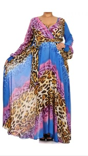 dress,leopard print,maxi dress,chiffon,plus size dress,wrap dress