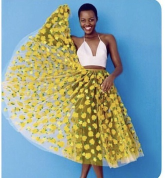 skirt yellow yellow skirt flowers floral floral skirt maxi midi