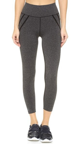 leggings street blue grey heather grey pants