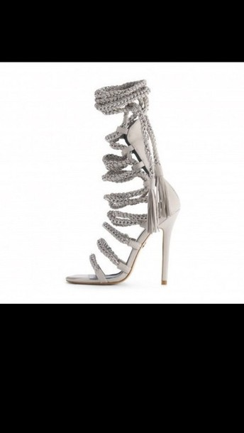 shoes lace-up shoes sandles high heels silver shoes