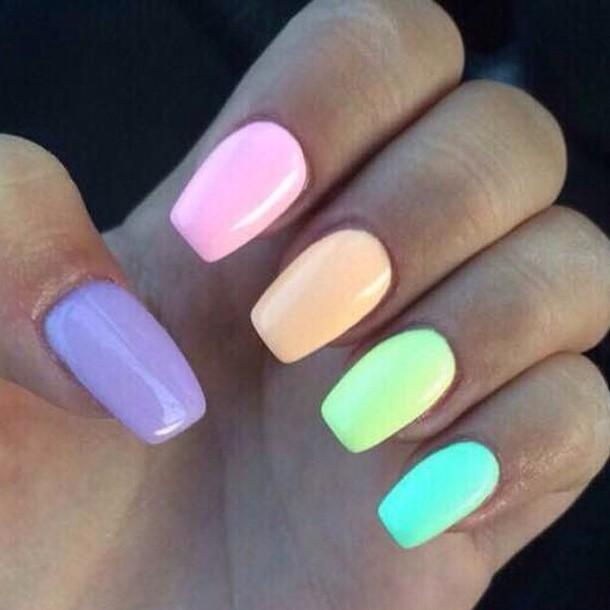 nail polish pastel