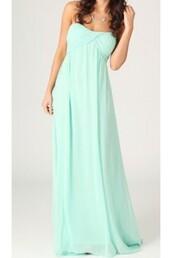 dress,escloset,fashion,mint dress,maxi dress,grecian