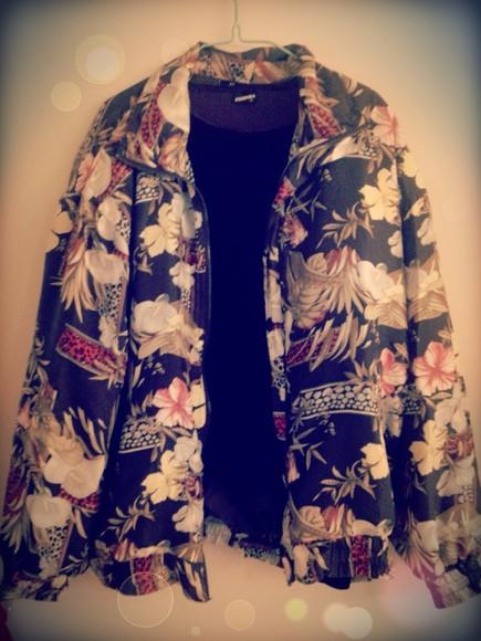 pandora jacket floral vintage 80's spring outfits