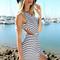 Striped cut-out maxi – dream closet couture