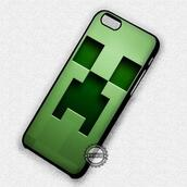 phone cover,creeper,minecraft,green,iphone,iphone case,iphone cover,iphone 4 case,iphone 4s,iphone 5 case,iphone 5s,iphone 5c,iphone 6 case,iphone 6 plus,iphone 6s case,iphone se case,iphone 7 plus case,iphone 7 case