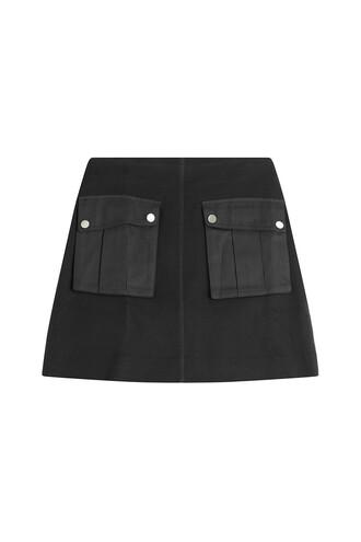 skirt mini skirt mini cotton black