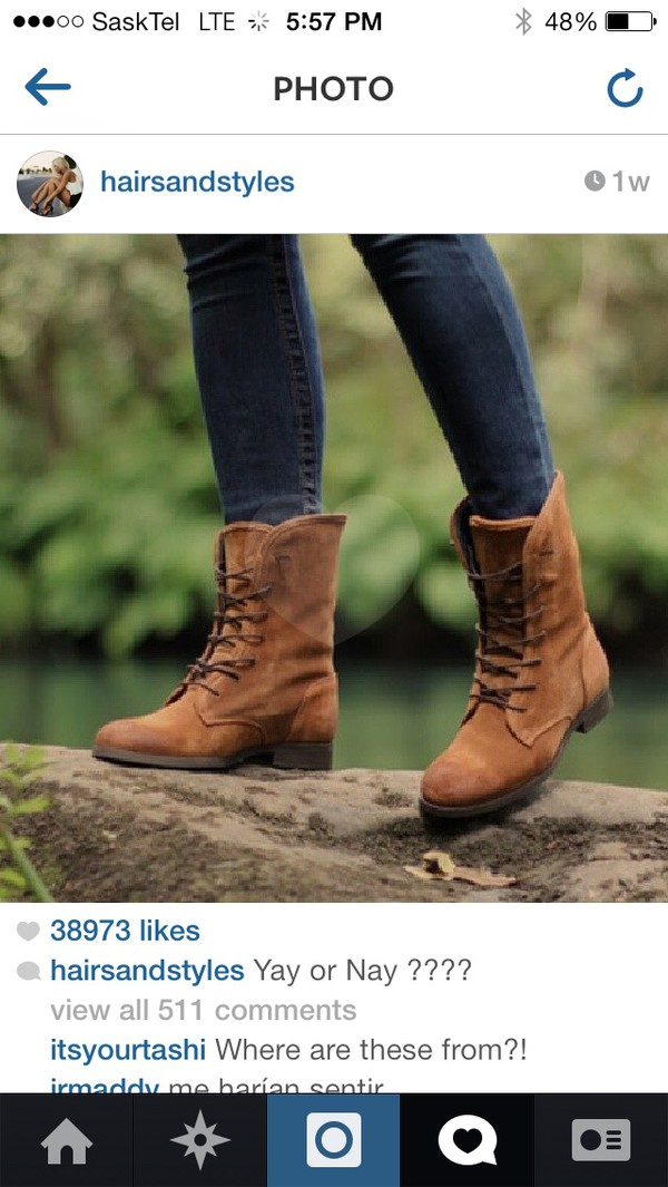 shoes combat boots brown leather boots