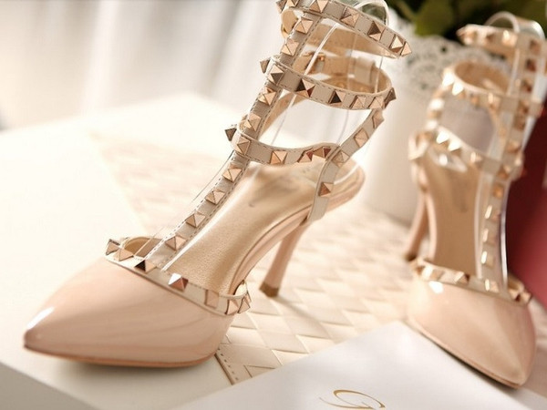 Inspired celebrity heels shoes celeb rivets rockstuds rockstud