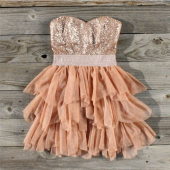 Ruffles & Rust Party Dress, Sweet Women's Country Clothing on Wanelo