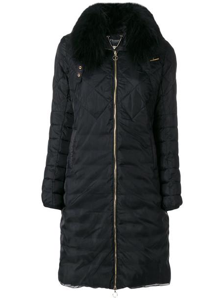 Twin-Set parka women black coat