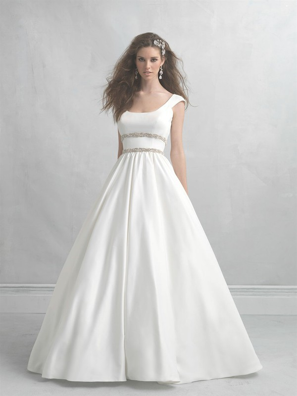 Wishesbridal Square Neck Court Train Satin #BallGown #WeddingDress ...