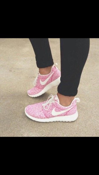 pink shoes pink nike running shoes