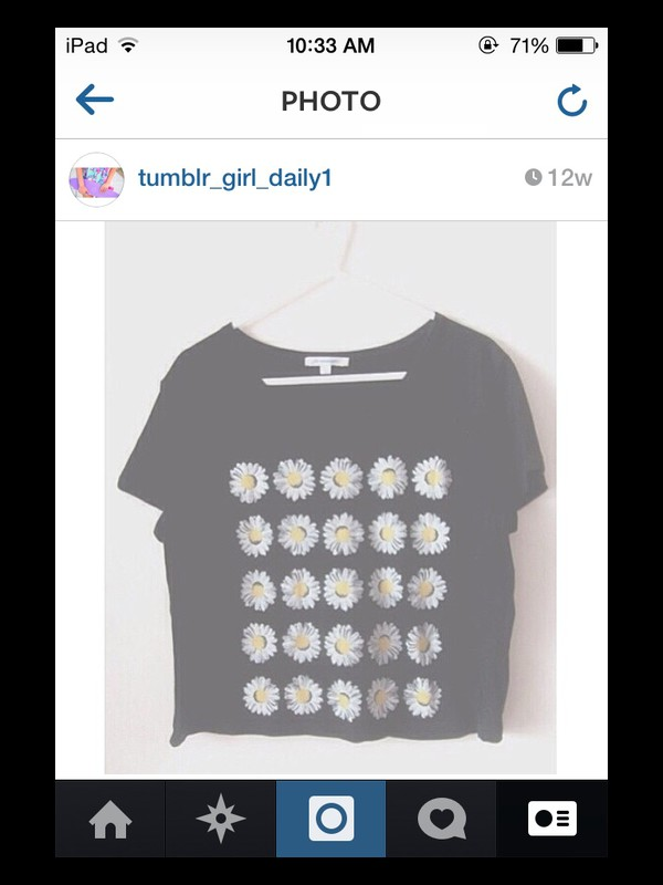 top daisy top crop tops quote on it
