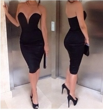 dress black sexy party
