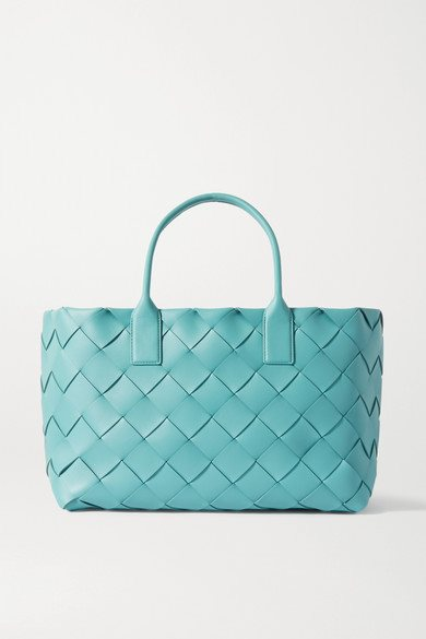 Bottega Veneta - Cabas Intrecciato Leather Tote - Blue - Cabas Intrecciato Leather Tote