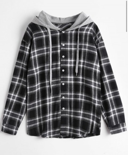 sweater girly button up plaid plaid shirt hoodie