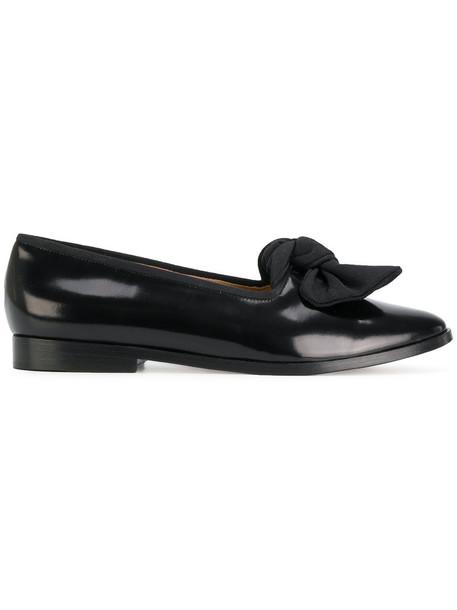 Mansur Gavriel bow women loafers leather black shoes