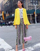 pants,yeah bunny,new york city,fashion week 2017,stripes