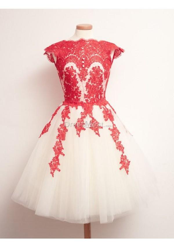 Length zipper scoop prom dress