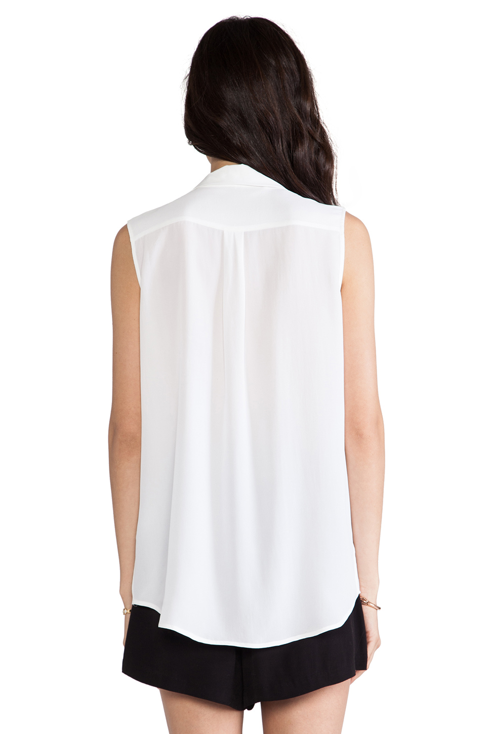 897dd6cdfc917 Equipment Sleeveless Keira Blouse in Bright White from ...