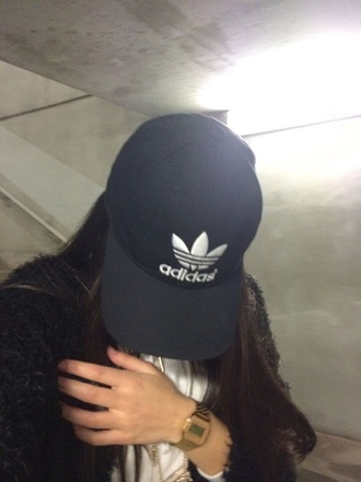 hat black hat adidas