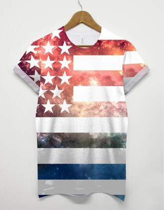 t-shirt us flag america tshirt stars and stripes all over print printed t-shirt