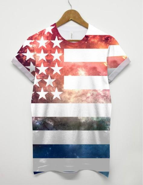 t-shirt us flag america tshirt stars and stripes all over print printed t-shirt